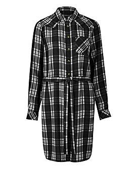 Black/White Check Shirt Dress