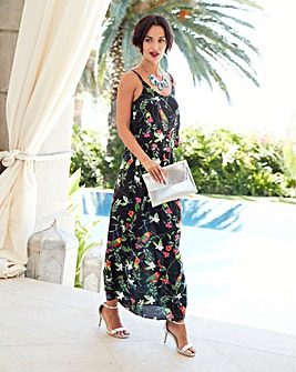 Multi Tropical Print Layer Maxi