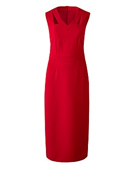 Red Magiscuplt Cut Out Bodycon Dress