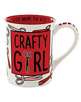 Our Name is Mud Craft Girl mug
