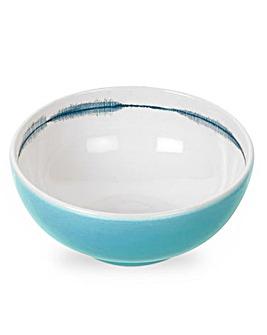 Portmeirion Coast Blue Cereal Bowls x 4