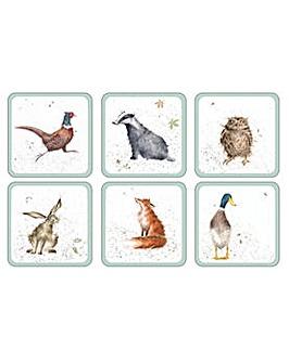 Wrendale Coasters Set Of 6