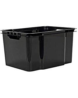 30L Stack/Store Black Crates Set of 4