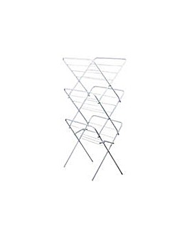 15m 3 Tier Clothes Airer - Super White