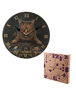 Decorative Wall Clock - Cat with Tarot