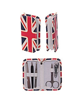 Fun Nail Manicure Set in UK Flag Holder