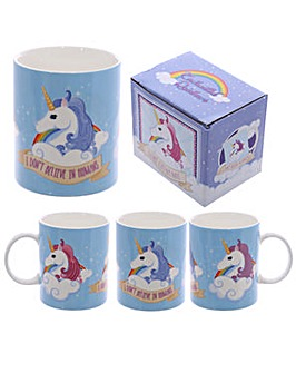 New Bone China Mug - Unicorn Slogan