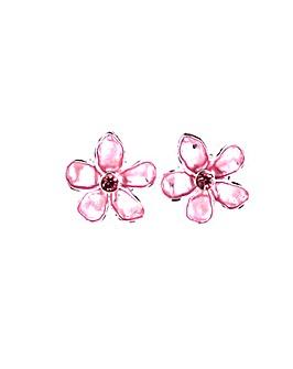 Enamel Flower Earring
