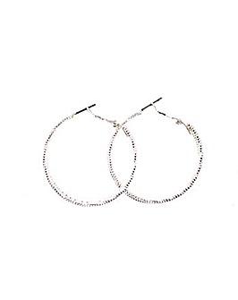 Textured Hoop Earring