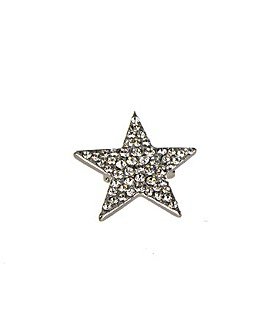 Diamante Star Brooch