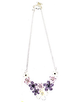 Lizzie Lee Enamel Flower Necklace