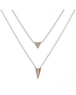Simply Silver Triangle necklace