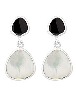 Simply Silver Onyx drop earring