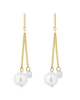 Jon Richard pearl and crystal earring