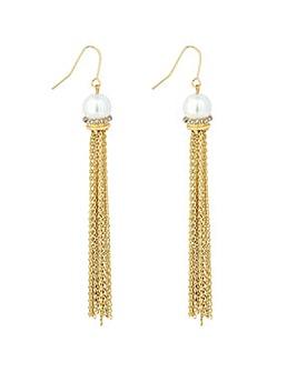 Jon Richard pearl tassel earring