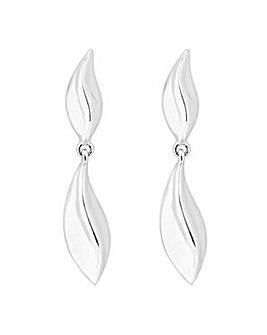 Simply Silver Leaf drop earring
