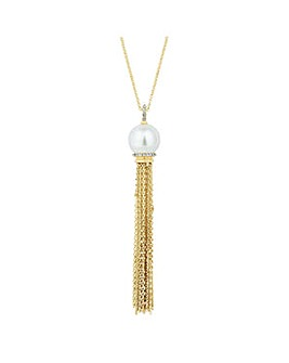 Jon Richard Pearl tassel long necklace