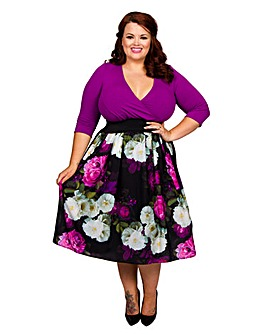 Scarlett & Jo Floral Print Twofer Dress