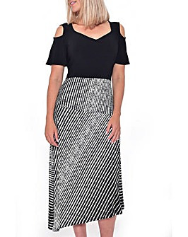 Grace Made in Britain cold shoulder maxi
