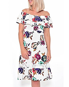 Grace Made in Britain frill hem dress