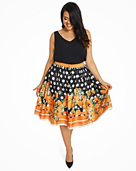 Lindy Bop Adalene Polka Swing Skirt