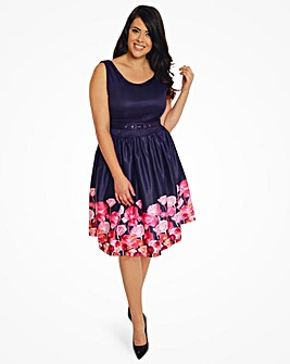 Lindy Bop Delta Floral Swing Dress