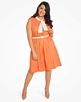 Lindy Bop Gillian Tie Collar Dress