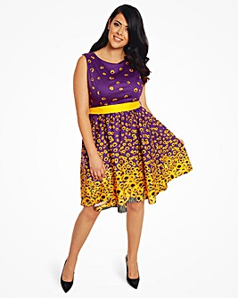 Lindy Bop Audrey Sunflower Swing Dress