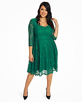 Lindy Bop Three Quarter Sleeve Dress