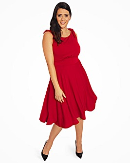 Lindy Bop Ethel Scarlett Jersey Dress