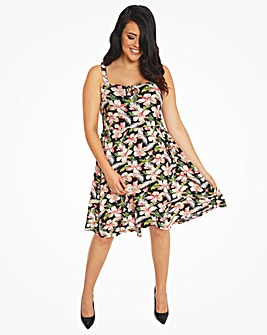 Lindy Bop Leesa Hibiscus Swing Dress