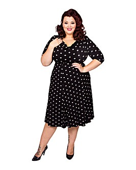 Scarlett & Jo Coin Spot 40s Tea Dress