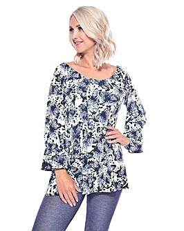 Grace on/off shoulder tunic