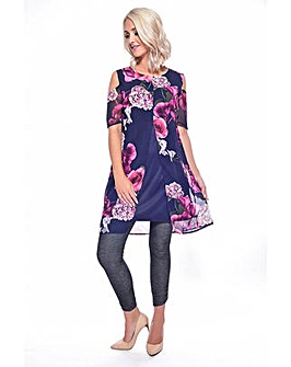 Grace cold shoulder chiffon tunic