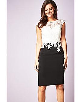 Gina Bacconi Ella Contrast Lace Dress