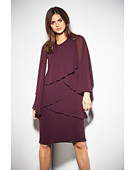 Gina Bacconi Eleanor Dress With Shawl