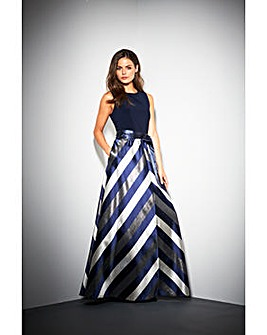 Gina Bacconi Michaela Stripe Maxi Dress