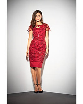 Gina Bacconi Annabelle Embroidered Dress
