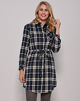 Brakeburn Flannel Shirt Dress