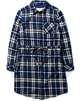 Brakeburn Flannel Shirt Dress