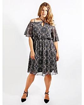 Lovedrobe GB Cold Shoulder Dress