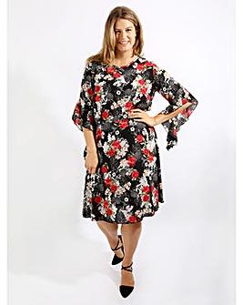 Lovedrobe GB Floral Skater Dress