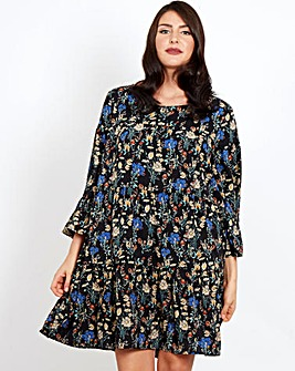 Blue Vanilla Curve Floral Print Dress