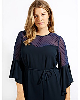 Lovedrobe GB Navy Contrast Shift Dress
