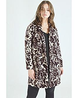 Elvi Leopard Boyfriend Coat