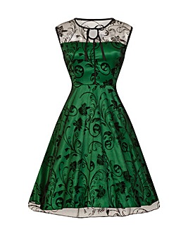 Lindy Bop Frankie Jean Green Swing Dress