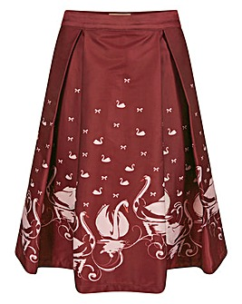 Lindy Bop Marie Swan Border Swing Skirt