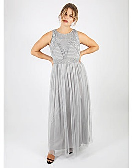 Lovedrobe Luxe Grey Maxi Dress