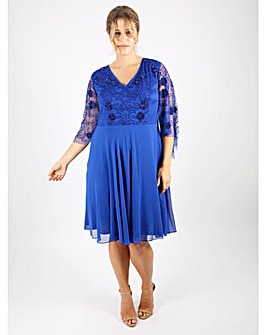 Lovedrobe Luxe Cobalt Kimono Dress
