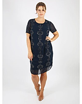 Lovedrobe Luxe Navy Shift Dress